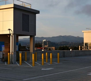 Walnut Creek BART Transit Village Parking Structure Rooftop Elevator Access