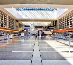 LAX Tom Bradley International Terminal Check in area