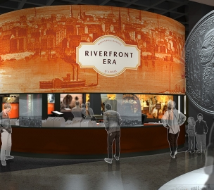 St. Louis Arch new museum exhibits - Riverfront Era