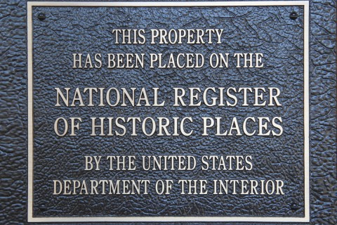 National Register of Historic Places sign