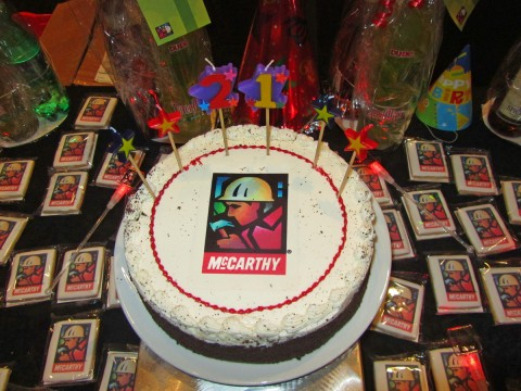 Cake with McCarthy logo