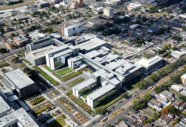 Aerial image of VA New Orleans Replacement Medical Center